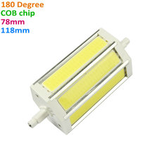 Light source COB R7S 78mm R7S 118mm LED Lamp 12W 18W Light Bulb replace halogen floodlight 85-265V spot luz super bright