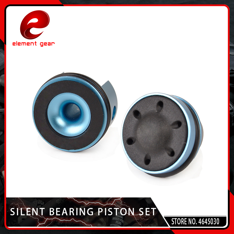 Element 2PCS CNC Aluminum Silent Bearing Piston Cylinder Head Set For Airsoft Version 2/3 AEG Gearbox Softair Accessory