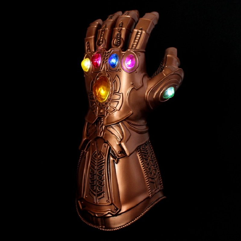Led Infinity Gauntlet Action Figures Cosplay Superhero Iron Man Anime Avengers Infinity War Thanos Led Glove Halloween 1 1 the avengers iron man updated gauntlet glove led light left right hand new with retail box