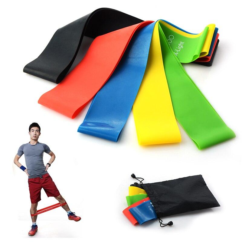 60 5 cm Elastic font b Fitness b font Yoga Loop Bands Natural Rubber Rubber Rally