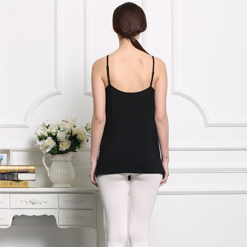 eb685cde48 Maternity Pregnant Bra Basic Tank Tops Camisole Breathable Vest Clothes  Slim Body Shape Wirefree with Pad M XL Hot Sale-in Tanks   Camis from  Mother   Kids ...