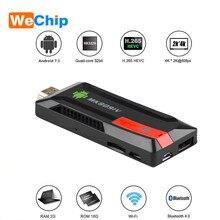 Wechip MK809 IV אנדרואיד טלוויזיה מקל אנדרואיד 7.1 MK809 4K טלוויזיה Dongle אנדרואיד AirPlay DLNA 4K HD מדיה נגן טלוויזיה מקל MK809IV מקל