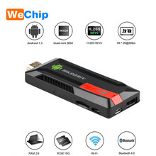 Wechip MK809 Iv Android Tv Stick Android 7.1 MK809 4K Tv Dongle Android Airplay Dlna 4K Hd Media speler Tv Stick MK809IV Stok