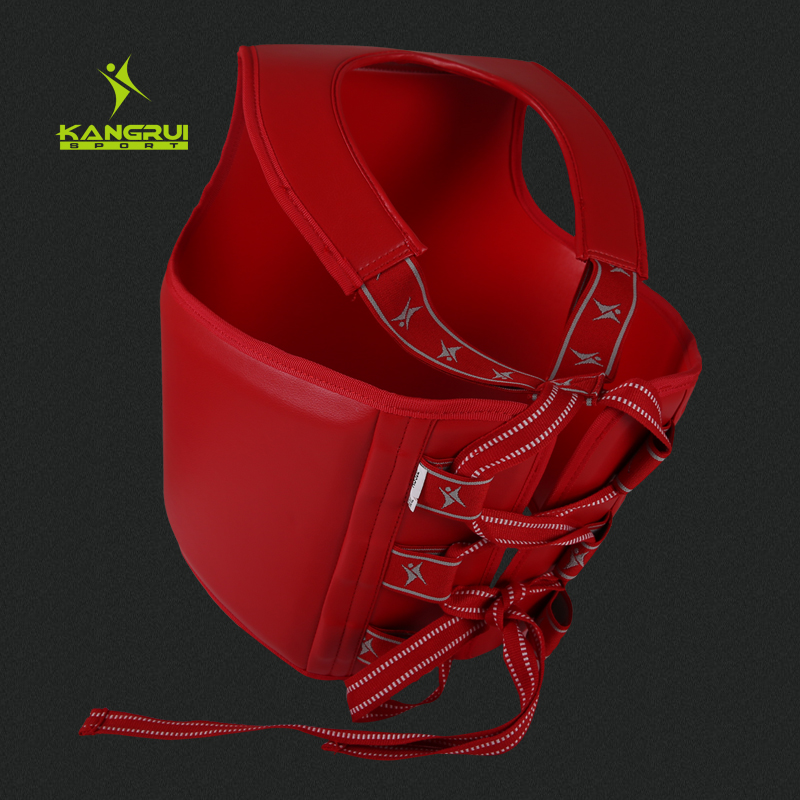 Durable PU leather EVA red blue color artificial leather men women child taekwondo chest guard fighting sanda chest protector