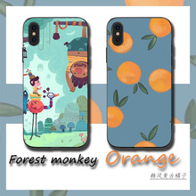 Cartoon orange monkey Phone Cases Cover for iphone X XR XS MAX 6 6s 7 8 Plus TPU Coque For 8Plus 5SE