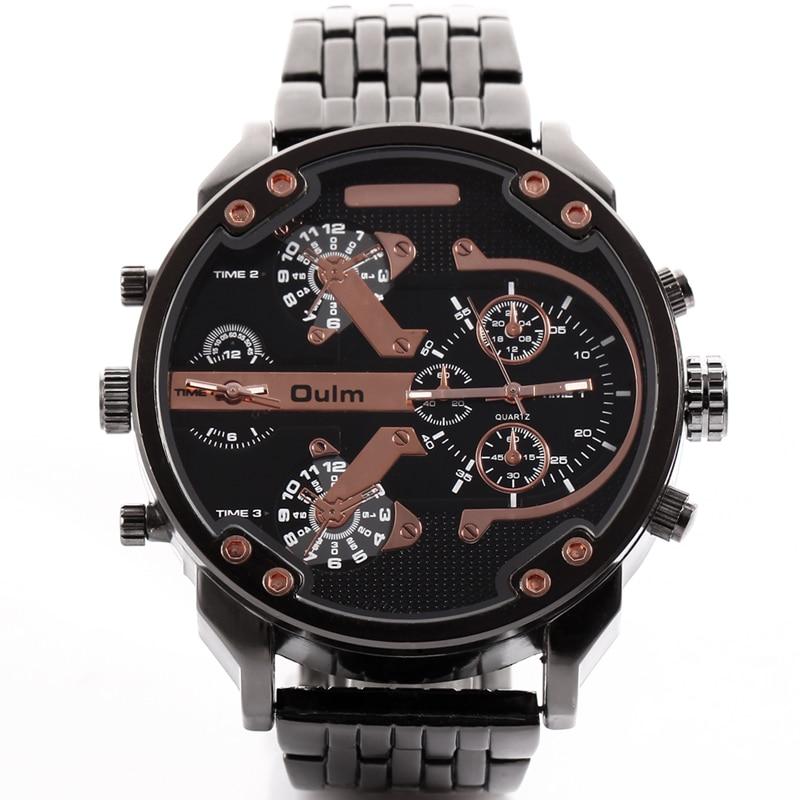 цена на Brand Oulm Watch Quartz Sports Men Watches Fashion Male Military Wristwatch Running Cool Relojioes Clock Masculino