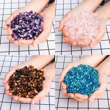 100g Natural Amethyst Pink Crystal Rough Stone Mineral Healing Irregular Fish Tank Garden Quartz Polished Crystals Decorations