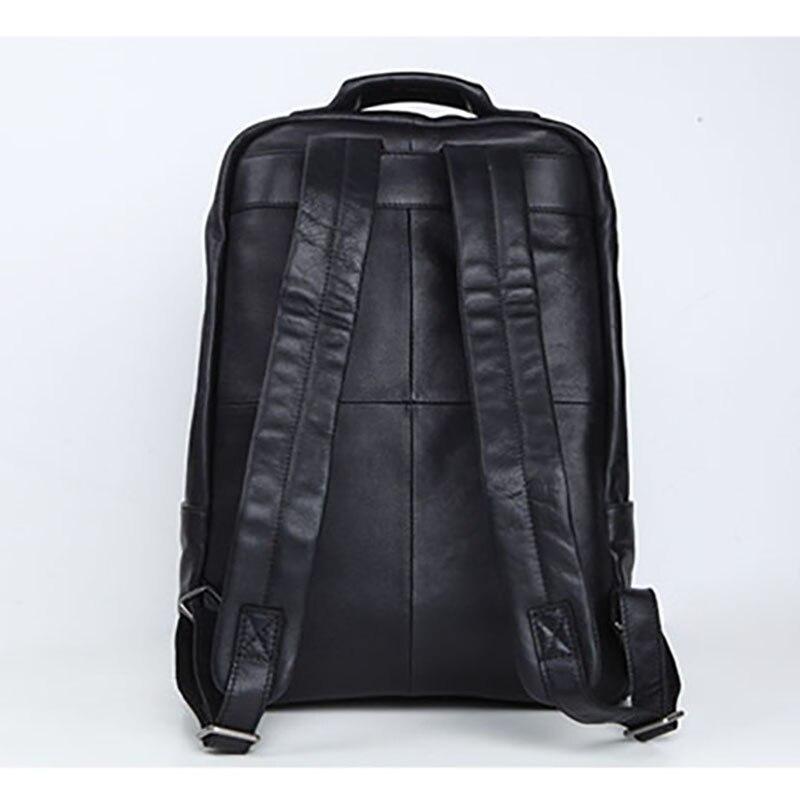 Kopf Tasche Casual Herren Bjyl Brown Rindsleder Rucksack Business Leder retro Computer Schulter Schwarzes Reisetasche Einfache Große ERq8wxnp1w