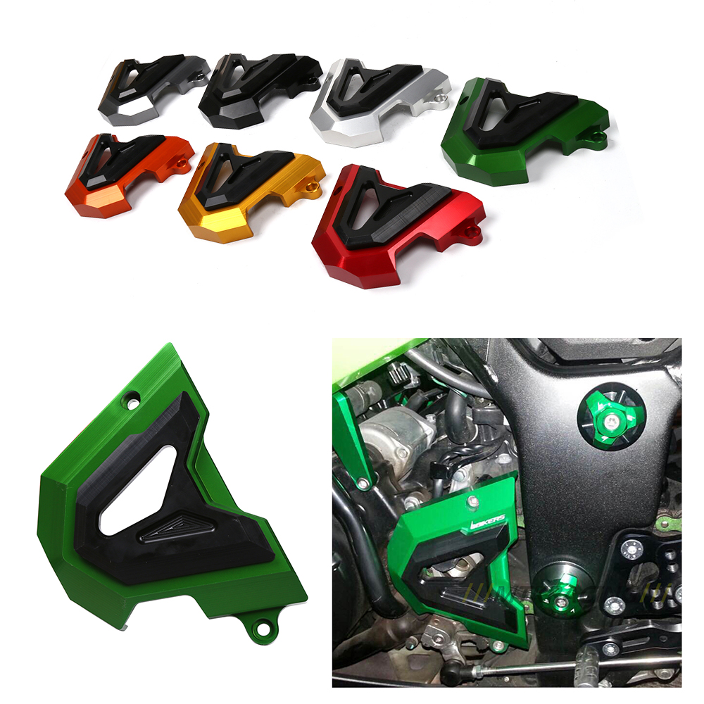 Motorcycle Left Engine Front Sprocket Chain Guard Protection Cover For Kawasaki Ninja 250 Z250 250R Ninja 300 Z300 300R 13-15 motorcycle racing engine case cover slider set for kawasaki ninja 300 z300 2014 2015