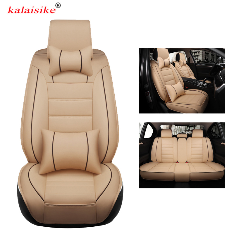 kalaisike leather universal car <font><b>seat</b></font> <font><b>covers</b></font> for <font><b>Peugeot</b></font> 407 4008 307 206 2008 508 308 5008 3008 607 408 <font><b>301</b></font> auto styling image