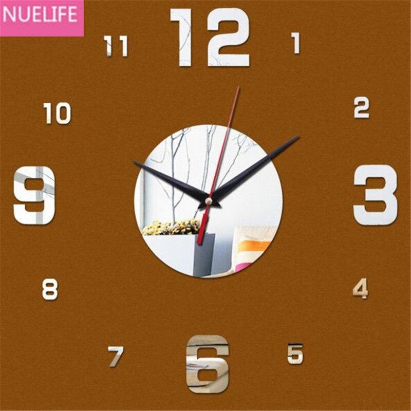 3D Αραβία ψηφιακή σχεδίαση καθρέφτη ρολόι τοίχο αυτοκόλλητο σαλόνι ... f0397d996a2