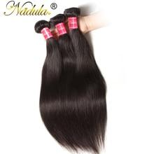 """Nadula волос 8 """"~ 30"""" Бразильский прямые волосы пучки 100 г/шт.-человеческих волос # 1B Цвет волнистые волосы переплетения"""