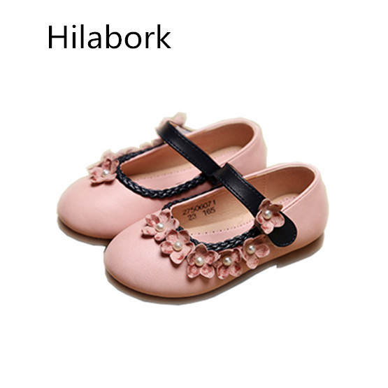 2017 spring new cute flowers children casual girls baby princess shoes infants and young children HOOk & LOOP leather shoes