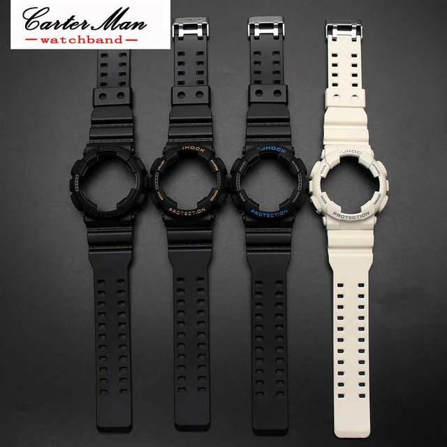 986e45a57456 Silicone Rubber Watch Band Accessories Convex Strap for Casio G-SHOCK GA120  GA-100