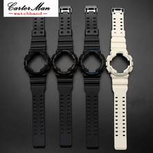 Silicone Rubber Watch Band Accessories Convex Strap for Casio G-SHOCK GA120 GA-100 GA-110 Steel Clasp Watch Band watchcase