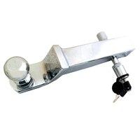 Трейлер крюк с 2 шаровое Крепление Серебро Хром длинные фаркоп с блокировки pin