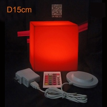 15cm 100% unbreakable led Furniture cube Magic Dice Remote control Square luminous lights for variety of occasions 1pc