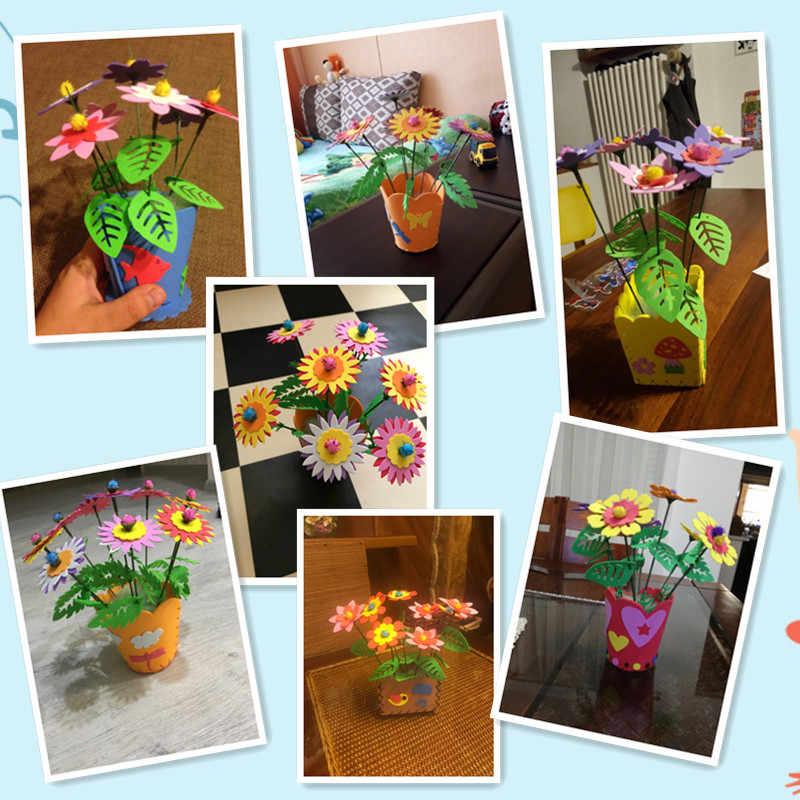 Happyxuan 5 шт./лот ручной работы пены eva ремесло DIY цветочный горшок Наборы игрушка детская Обувь для девочек От 3 до 6 лет образования