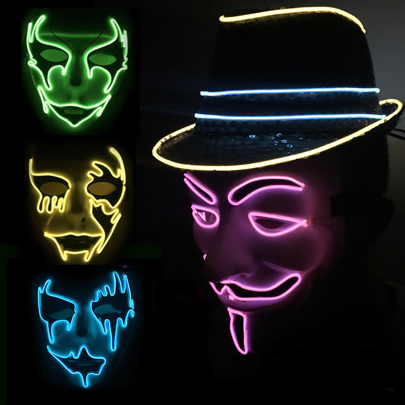 Led Face Mask Led Light Up Flashing Halloween Party Costume Dance Cosplay Decor Innovatis Suisse Ch