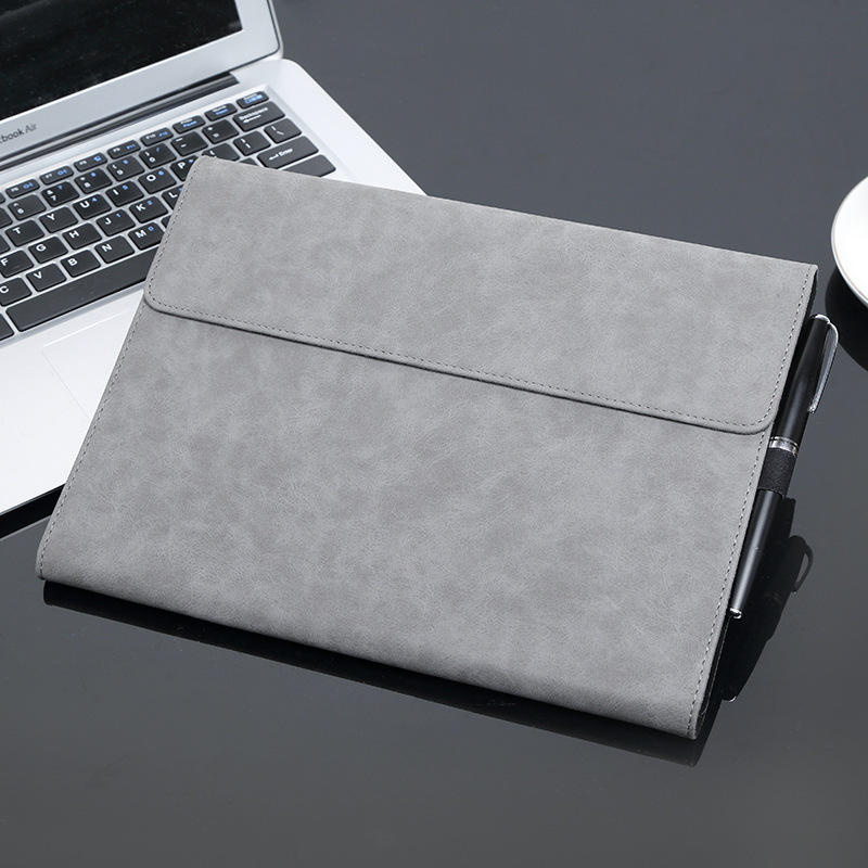 Laptop sleeve for surface Pro 3 4,Solid Waterproof Shockproof Tablet laptop sleeve 13 inch leather for surface Pro 5 tablet sleeve bag for microsoft surface pro 3 pro 4 laptop handbag bags for macbook 11 12 inch notebook soft solid tablet cover