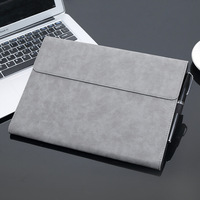 Laptop Sleeve For Surface Pro 3 4 Solid Waterproof Shockproof Tablet Laptop Sleeve 13 Inch Leather