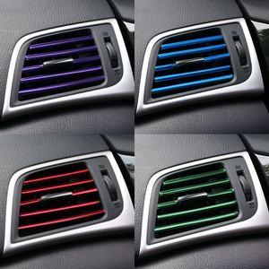 Car Air Outlet Decoration strip Blade Chrome Trim Strip Bumper For Hyundai solaris accent i30 ix35 elantra santa fe tucson getz(China)