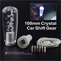 10cm Crystal Bubble Drift Shift Knob Stick Shift Gear Lever With Color Change LED Light With USB Interface Charger And Data Wire