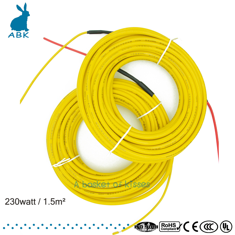 Professional infrared heating cable 24K 17 ohm heating cable Ground heating system