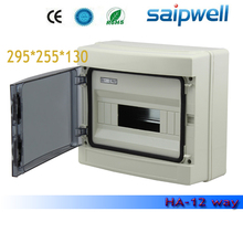 Saipwell 2014 Hot Distribution Box IP66 12 ways Waterproof Plastic Distribution Box HA series