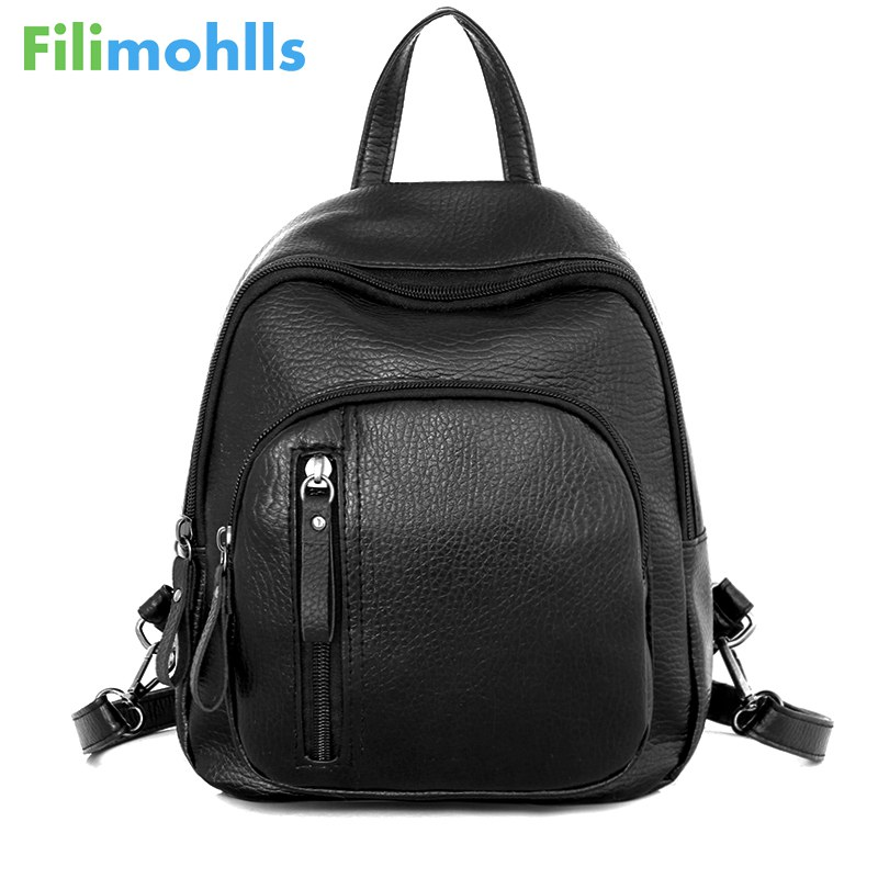 2018 Fashion Female Travel bag New Classic Women PU leather Mini Preppy Chic Backpack Girls Casual Preppy Style School Bag S1308 women s classic backpack