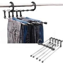 91687543f9040 5 em 1 Calças Ajustáveis Calças Cinto Rack de Empate Xale Lenço Gravatas  Cabide Titular Banho Casa de Multi função Do Armário Pe.