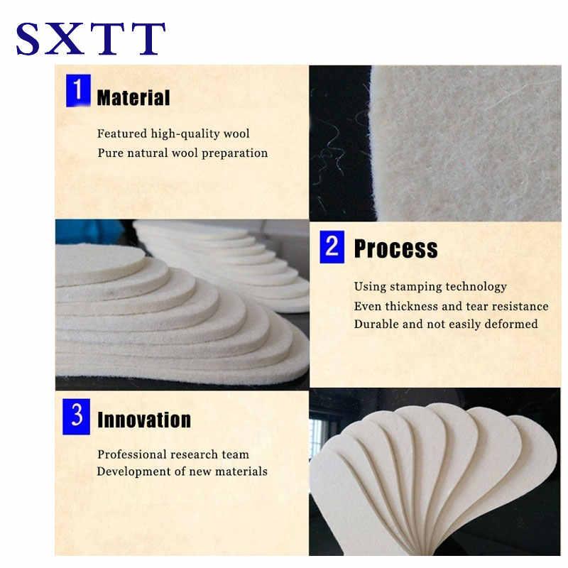 SXTT1 par Unisex hombres Wemen plantilla calentada invierno cálido suave lana invierno zapato plantillas tamaño 35-43