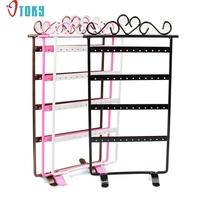 Gussy Life Wholesale Diomedes Factory Price 48 Hole Earrings Jewelry Display Rack Metal Stand Holder Showcase