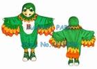green parrot mascot ...