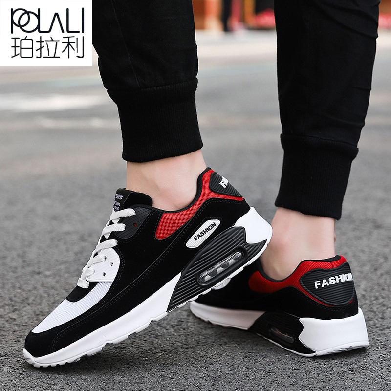 Man Running Shoes For Men Air Cushion Comfortable Breathable Lace-up Adult Outdoor Stability Jogging Shoe Sneaker Max Size 39-47