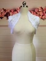 Evening Dresses Coat Bridal Jackets Capes Sleeveless White Lace Wedding Boleros Shrug Feel Romantic Back Bride