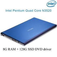 "P8-05 blue 8G RAM 128G SSD Intel Pentium N3520 15.6 gaming laptop DVD driver HD screen business notebook computer"""