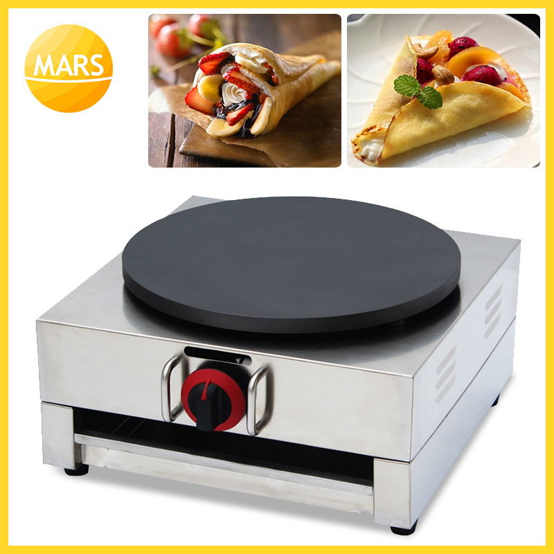 40CM Single Head LPG Gas Crepe Maker With Tools Commercial Stainless Steel Crepe Maker Machine