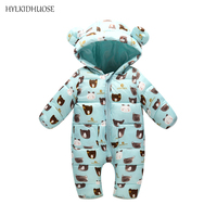 HYLKIDHUOSE Baby Girls Boys Rompers Infant Newborn Romper Autumn Winter Cartoon Hooded Children Kids Jumpsuits One