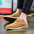 HOT 2017 de cuero de piel de solid oxford zapatos de los hombres de calidad superior de primavera 3 color lace up mens pisos brogue zapatos de moda zapatos de los hombres oxfords