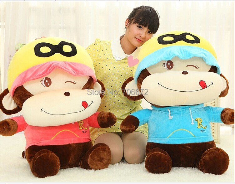 цена free shipping ,large 80cm naughty monkey plush toy,throw pillow Chirstmas gift s0714