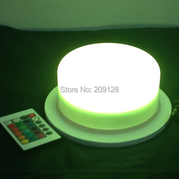 ФОТО 17.5cm wireless remote controlled battery operated 16 colours changed led lighting