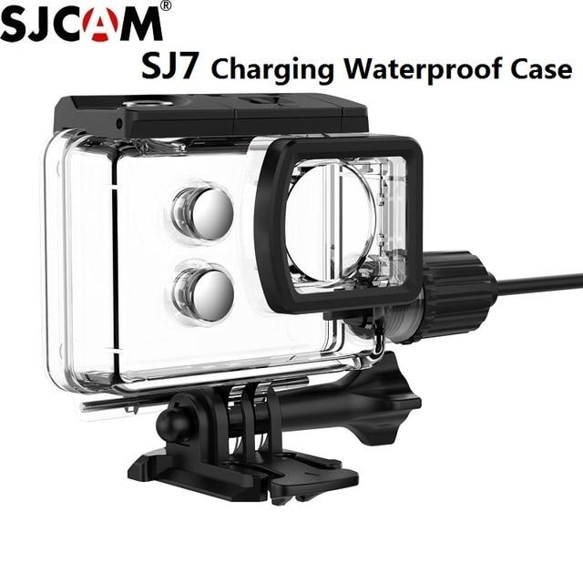 SJCAM אופנוע אביזרי מקרה עמיד למים עבור SJCAM SJ7 כוכב טעינת מעטפת מטען מקורי מקרה מצלמה SJ7 SJCAM דגי ליצן