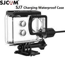 Sjcamアクセサリーオートバイ防水ケースのためのオリジナルsjcam sj7スター充電シェル充電器ケースsjcam sj7カメラカクレクマノミ