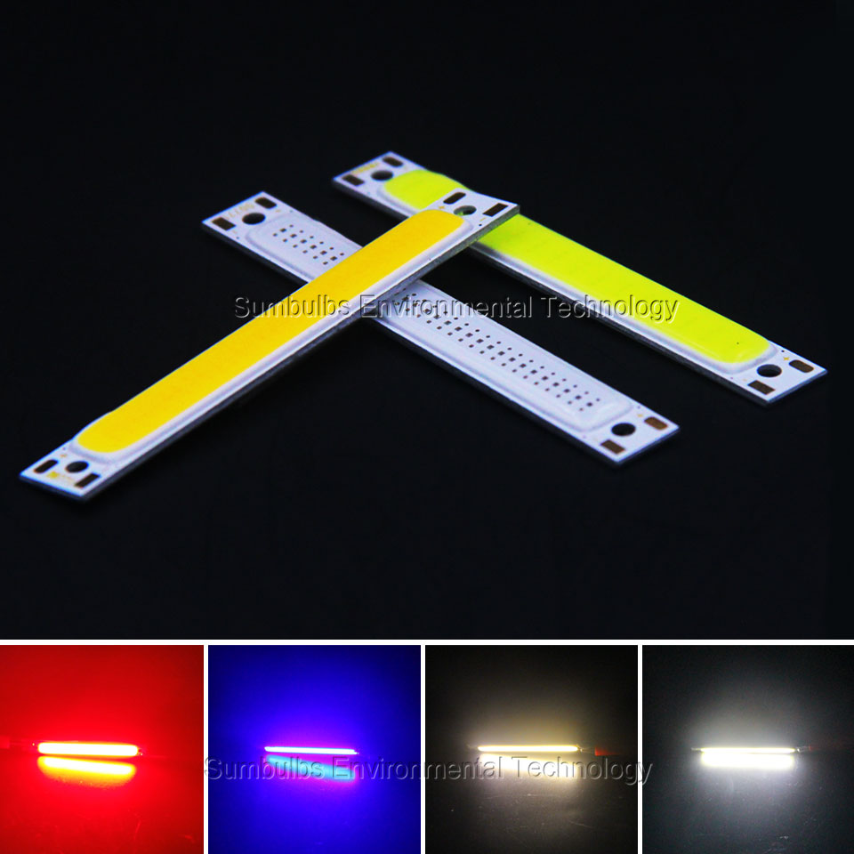 60x8mm 1W 3W red blue cold warm white COB strip LED font b light b font