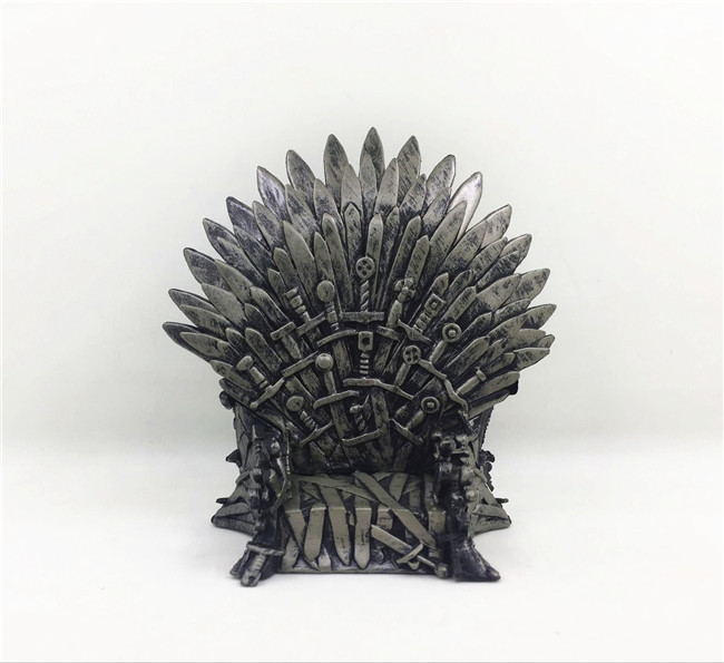 the Iron Throne Figure Model Toys in Movie GAME OF THRONES A Song Of Ice And Fire 15cm 17cm game of thrones action figure toys sword chair model toy song of ice and fire the iron throne desk christmas gift