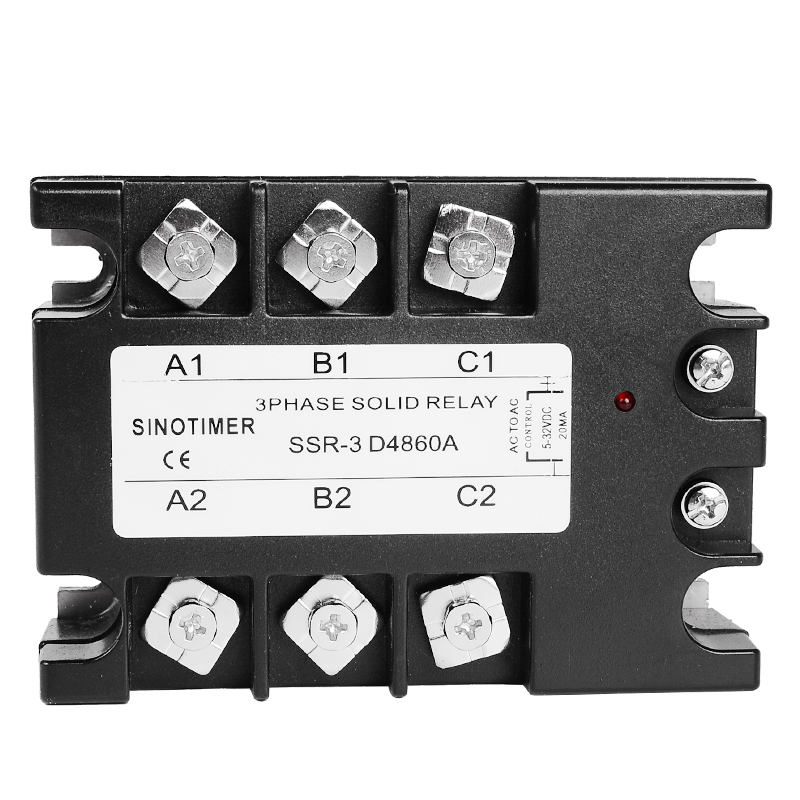 цена на 3 Phase Solid State Relay 60DA AC Output 3-32V DC to 30-480V AC 60A Module Switch Relay relais DC-AC D4860A
