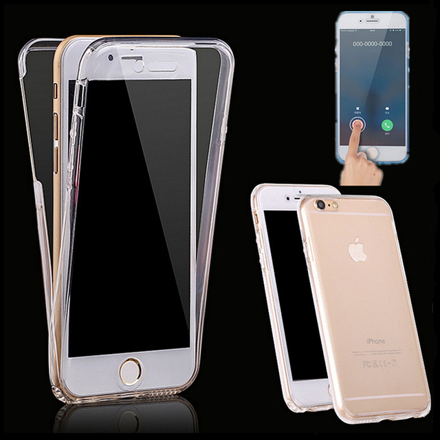 360 Degree Full body Coverage Cover Touch screen Soft TPU Dual layer Case For Apple iphone 4 4S 5 5S SE 6 6s 7 Plus 7plus