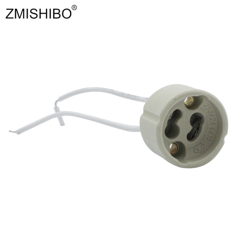 Lamp Holder 10pcs GU10 Ceramic Heat Resistant DIY Portable Stable Practical Accessories Random Color 250V 2A