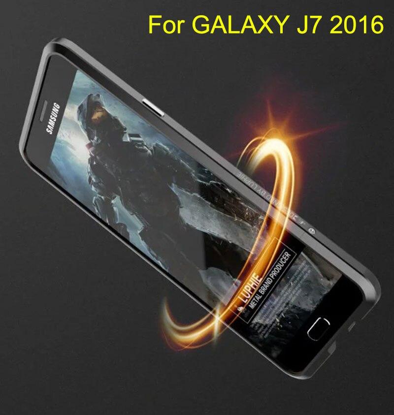 imágenes para Nueva Noble de Lujo Bumper Para Samsung Galaxy J7 2016 sm-J710f Avanzada Aleación de Aluminio de Parachoques del Metal de la Marca Luphie Protectora